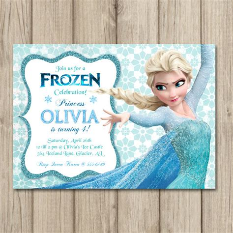 frozen birthday invitation elsa invitation girl frozen