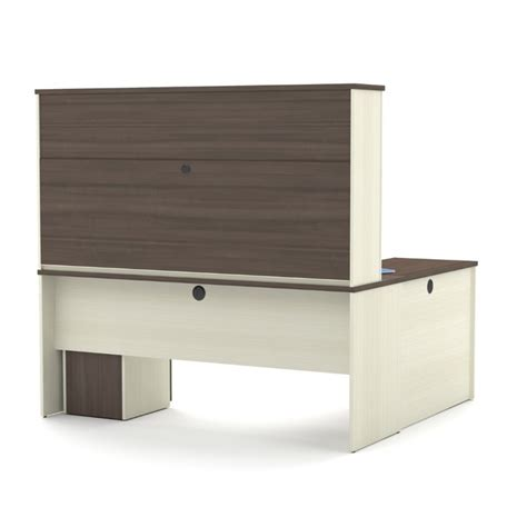 bestar prestige l desk bestar prestige plus l desk with hutch in white chocolate