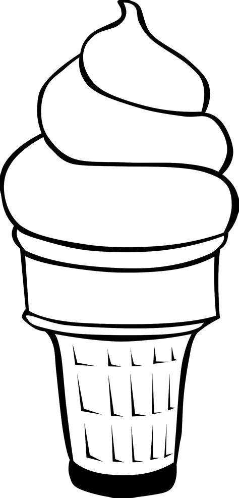 vanilla ice cream coloring pages clipart ice cream line art