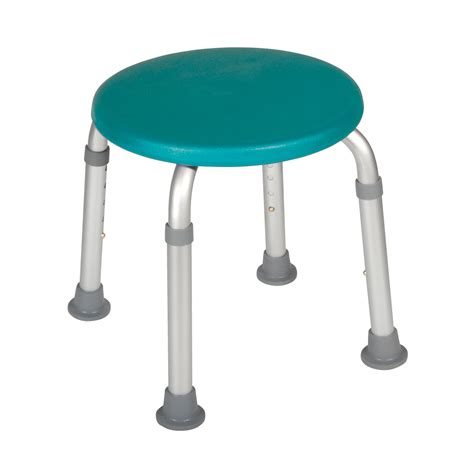 stool bathroom adjustable height bath stool teal in houston tx by drive