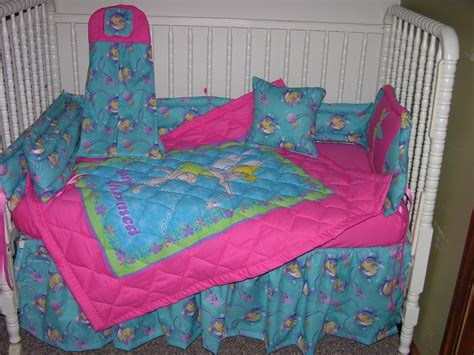 Tinkerbell Crib Bedding Crib Bedding Set Made W Pink Tinkerbell Fabric Ebay