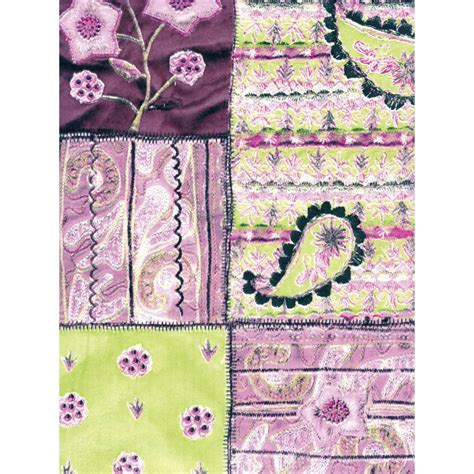 Paper Patchwork - decopatch paper 412 half sheet pink green purple