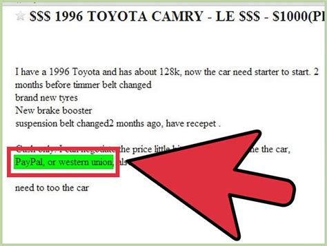 Housing Scams On Craigslist by How To Spot Car Scams On Craigslist 6 Steps With Pictures