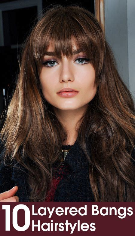how to cutting bangs in a layered hairstyle 50 layered hairstyles with bangs fringes bang bang and