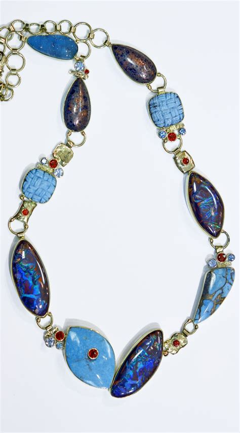 turquoise opal 193 best images about boulder opal necklaces on pinterest