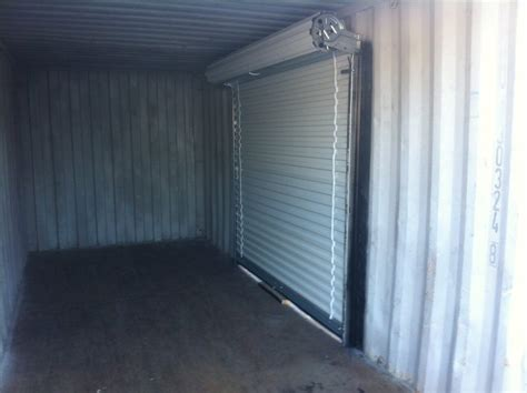 roll up door in used 20 foot shipping container simple