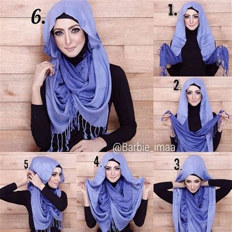 Tutorial Hijab Yang Cantik | kumpulan tutorial hijab simple dan praktis paling cantik
