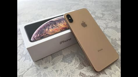 iphone xs max gb gold unboxing youtube
