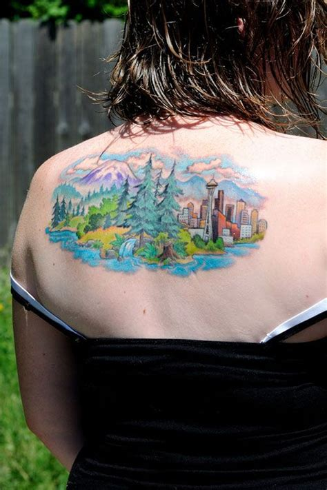 mountain scene tattoo designs 3d nature mountain designs piercing