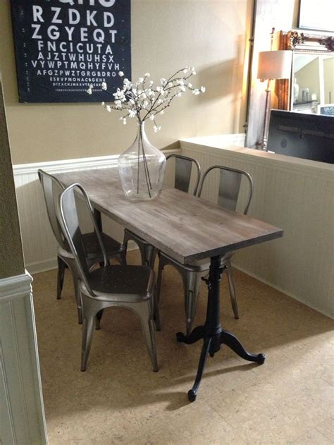 narrow kitchen table with bench reclaimed wood dining room table kitchen table
