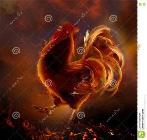 Feuer Hahn 2017 by Feuer Hahn Symbol Neuen Jahres 2017 Stockfoto Bild 77368729