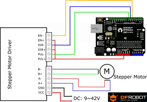 how to connect a stepper motor tb6600 stepper motor driver sku dri0043 dfrobot
