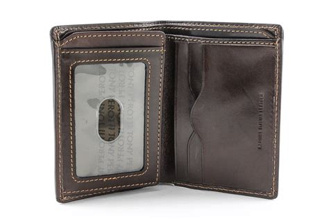 And Bifold Wallet tony perotti italian leather vertical bifold wallet with