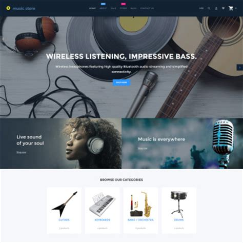 shopify themes music shopify themes templatemonster
