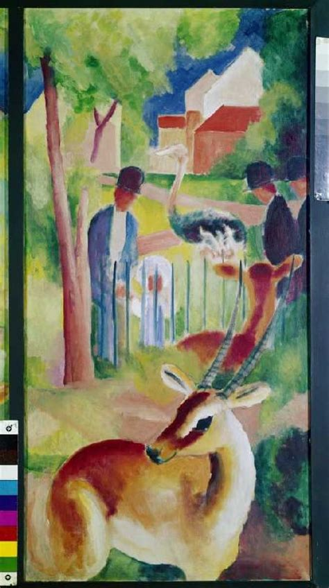 Zoologischer Garten August Macke by Gro 223 Er Zoologischer Garten August Macke Als Kunstdruck