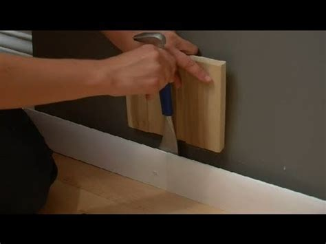 how to remove a wall baseboard without damage design tips for the home youtube