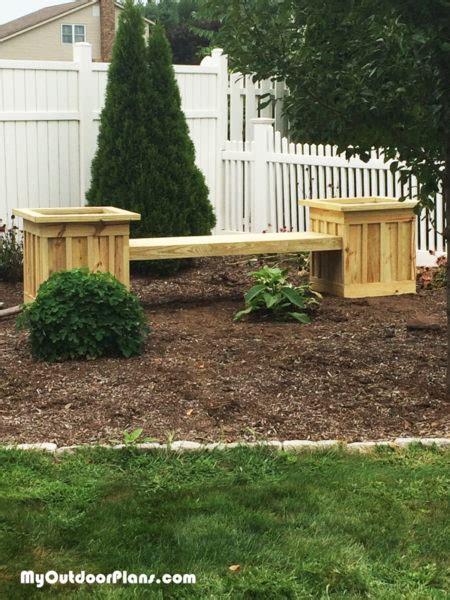 board  batten planter bench myoutdoorplans