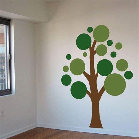 Wall Sticker Pohon Orange 3d lots circles tree vinyl wall decals