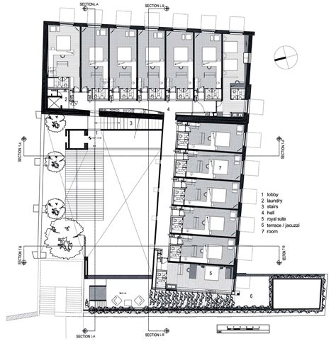 layout of hotel store la purificadora boutique hotel plans google search