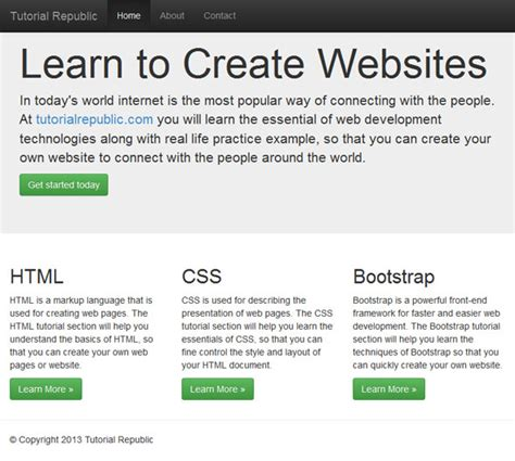 bootstrap 3 tutorial create your first one page working with bootstrap 3 fluid layout tutorial republic