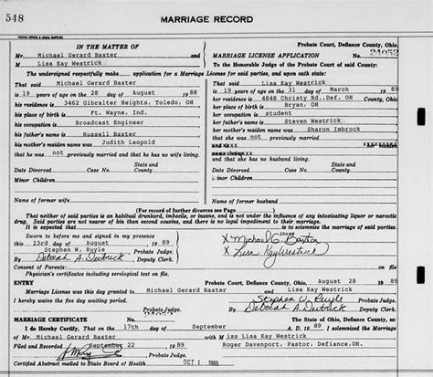 Dayton Ohio Marriage Records Genealogy Data Page 158 Notes Pages