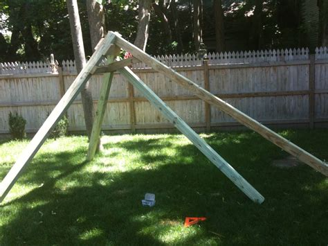 swing set a frame plans woodworking plans for building a simple swing set out of