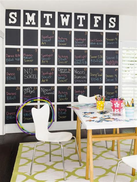 Chalkboard Wall Calendars 14 Chalkboard Calendar Ideas To Kick The New Year