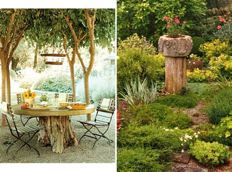 Tree Ideas For Backyard Repurpose Your Tree Stumps 32 Cheap And Easy Backyard Ideas That Are Borderline Genius Home