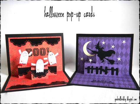 pop up ginderellas halloween pop up cards