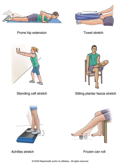 Plantar Fasciitis Stretches With Pictures Planters Fasciitis Stretches