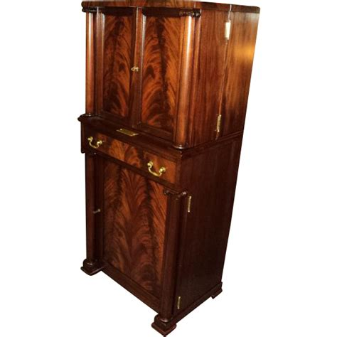 Vintage Bar Cabinet Antique Bar Cabinet Antique Mahogany Empire Liquor Cabinet Bar From Frenchconnectionantiques