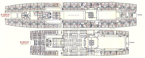 ship floor plan ss rotterdam v part 6 deck plans other images