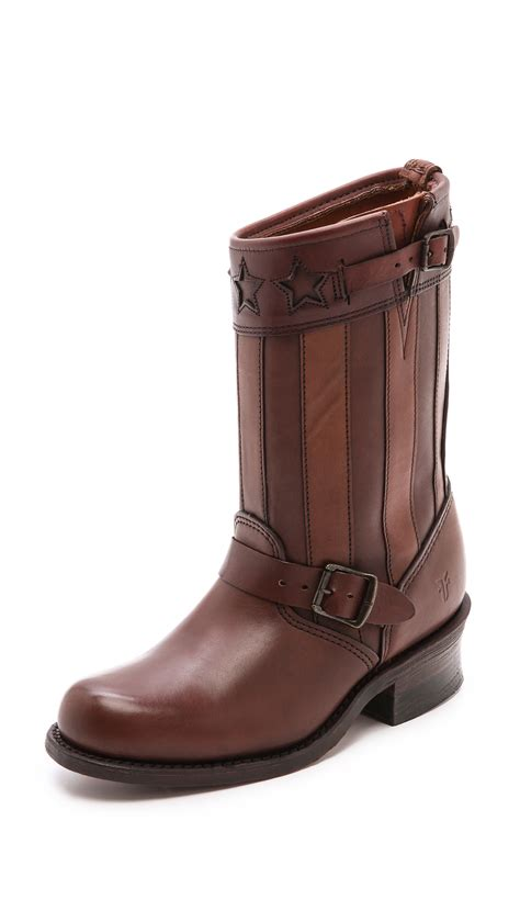 frye boots frye 150th anniversary engineer americana boots in