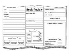 roald dahl book review template writing draft sheet free ela 39