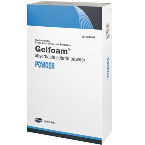 1 Powder Powder gelfoam 1 gram powder 6 box