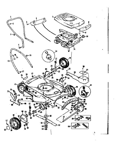 craftsman self propelled lawn mower parts diagram craftsman 22 in self propelled rotary lawnmower parts