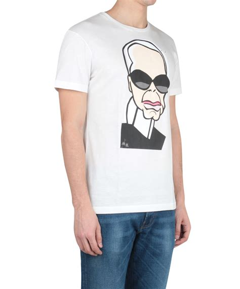 Tshirt One Clothing lyst one t shirt karl lagerfeld cotton t shirt in white