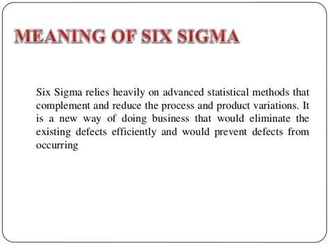 Mba And Six Sigma by Vtu Syllabus Mba Tqm Module 8