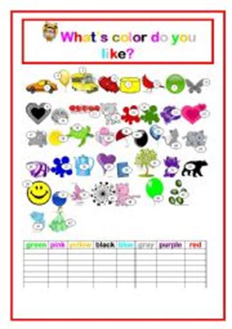 colors what color do you like english speaking english worksheet what 180 s color do you like