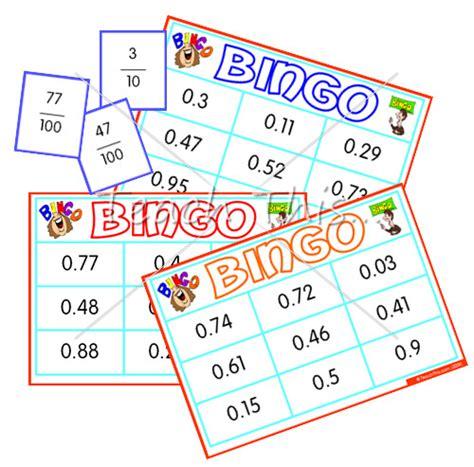 decimal card games printable fraction decimal bingo whole class set fun math games