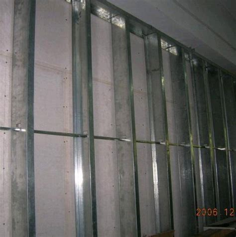 With Metal Studs Metal Stud Drywall Stud Drywall Track Partition System