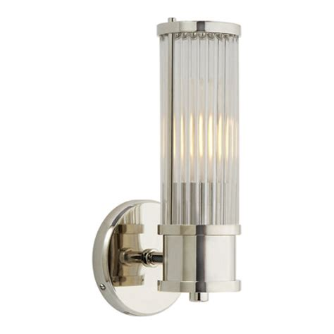 Ralph Sconces allen single sconce in polished nickel wall ls