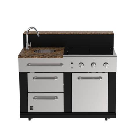 Rv Kitchen Faucet Parts Shop Master Forge 3 Burner Modular Outdoor Sink And Side