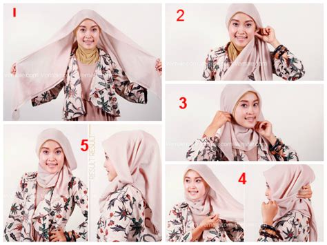 Cara2 Memakai Jilbab Cara Memakai Jilbab Praktis Cepat
