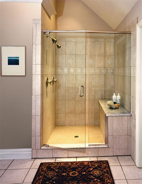 Showers With Seats And Glass Doors Michigan Shower Doors Michigan Glass Shower Enclosures