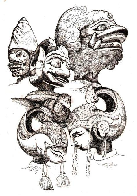 galeri wayang pitoyo artwork wayang sketsa wayang golek