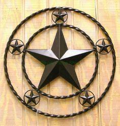 12 quot rustic metal barn star brushed copper texas tin wall 17 quot texas metal barn star rope ring circle large rustic