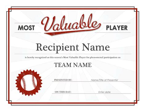 basketball mvp certificate template most valuable player award certificate