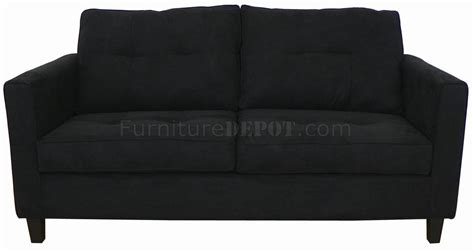 black sofa fabric black fabric modern sofa loveseat set w optional items