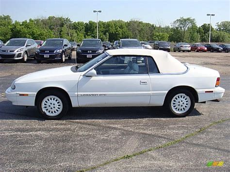 chrysler lebaron gtc 1995 white chrysler lebaron gtc convertible 30544372